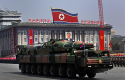 North Koreas  missile on parade in Pyongyang from April 15, 2012 / AP