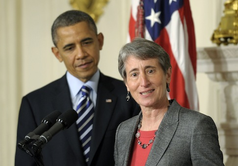 Barack Obama, Sally Jewell / AP