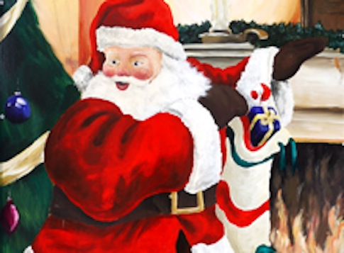 Santa painting / Wikimedia Commons