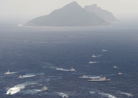 Japanese Coast Guard patrol the Senkaku Islands / AP