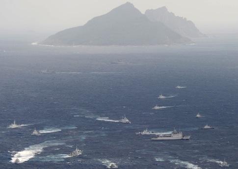 Japanese Coast Guard patrol the Senkaku Islands / AP