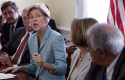 Elizabeth Warren, former special adviser to CFPB, speaks on of the anniversary of the Dodd-Frank / AP