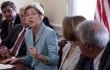 Elizabeth Warren, former special adviser to CFPB, speaks on of the anniversary of the Dodd-Frank / AP