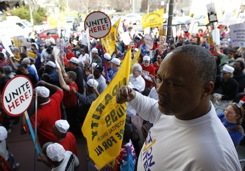 Labor Rally in Philadelphia / AP