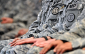 Soldiers attend a deployment ceremony Saturday, Jan. 5, 2013, in Huntsville, Ala. (AP)