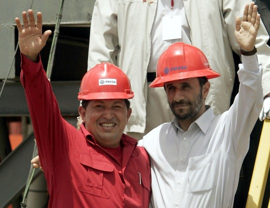 Chavez and Ahmadinejad (AP)
