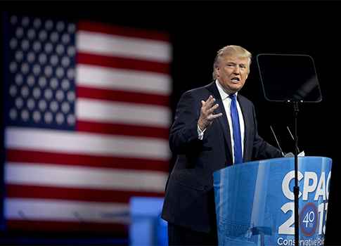 Donald Trump at CPAC / AP