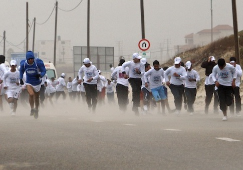 Photo from the 2012 Gaza marathon / AP