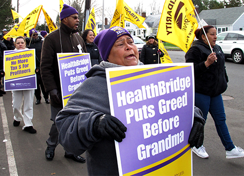 HealthBridge strike / AP