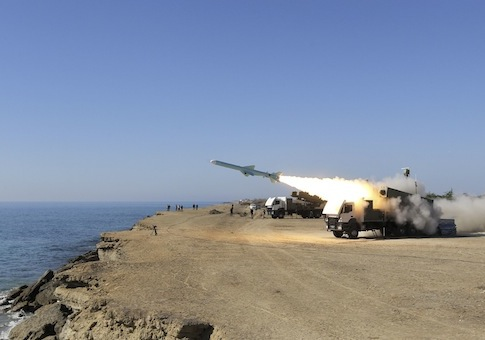 Iranian missile test Jan. 1, 2013 / AP