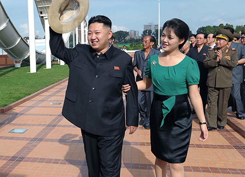 Kim Jong-un and wife Ri Sol-ju / AP