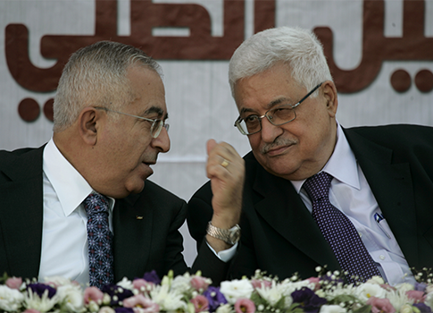 Salam Fayyad, Mahmoud Abbas / AP