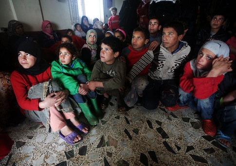 Syrian refugee children / AP