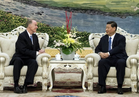 Tom Donilon and then-Vice President of China Xi Jinping July 2012 / AP