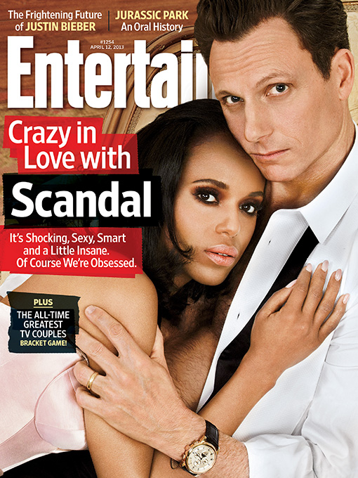 Washington and Tony Goldwyn, who plays the president in 'Scandal,' on the cover of Entertainment Weekly.
