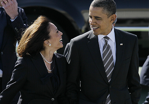 California Attorney General Kamala Harris, Obama / AP