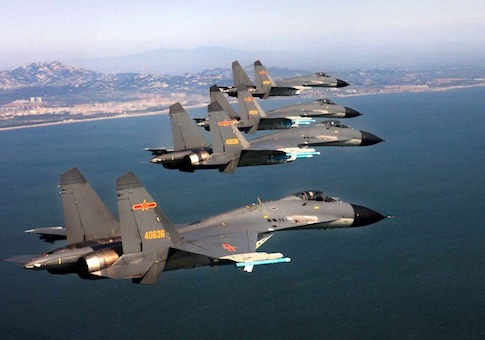 Chinese fighter jets, September 2012 / AP