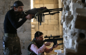 Free Syrian Army fighters / AP