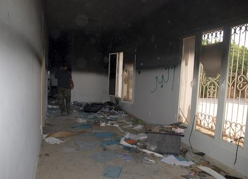Gutted U.S. consulate in Libya / AP