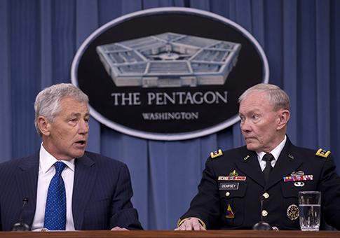 Hagel and Gen. Dempsey / AP