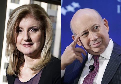 Arianna Huffington, Lloyd Blankfein / AP