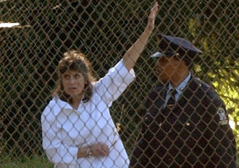 Kathy Boudin leaving prison in 2003 / AP