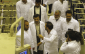 Mahmoud Ahmadinejad touring uranium facility 2009 / AP