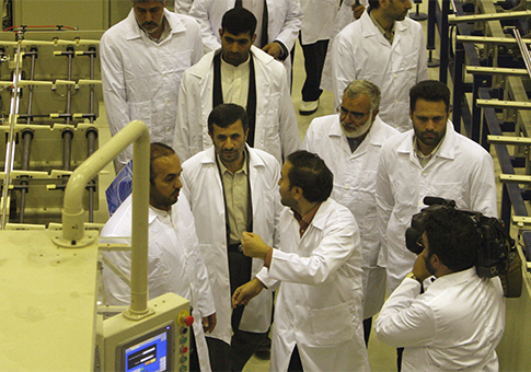 Mahmoud Ahmadinejad touring uranium facility 2009 / AP
