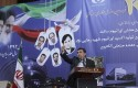 Mahmoud Ahmadinejad speaks at a ceremony marking Iran&#039;s National Day of Nuclear Technology / AP