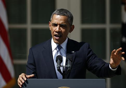 President Obama proposing his 2014 budget / AP
