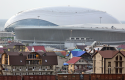 Bolshoi ice dome under construction in the Olympic park in Sochi, Russia / AP