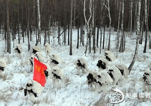 PLA troops in Shenyang exercises near N. Korea / Source: Chinese Internet
