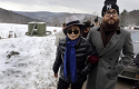 Yoko Ono and son Sean Lennon visit fracking site / AP