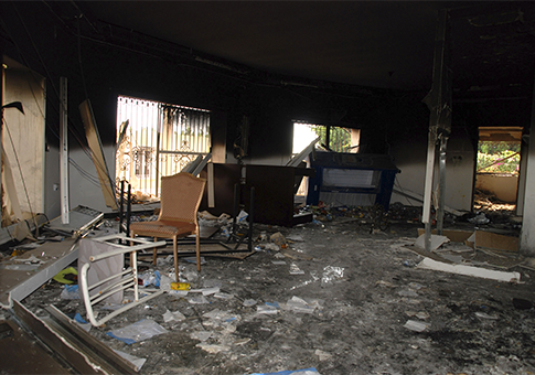 Gutted U.S. consulate in Benghazi, Libya, after Sept. 11, 2012 attack / AP