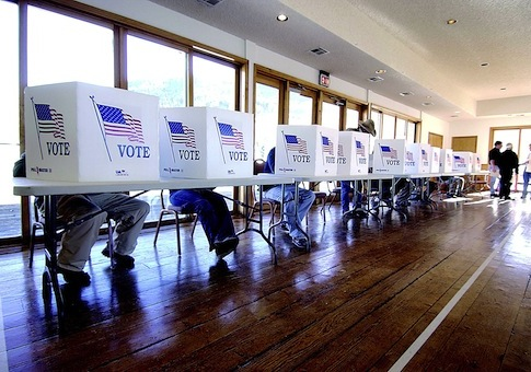 Colorado voting booths / AP