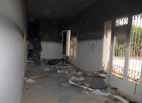 Gutted US consulate in Libya / AP