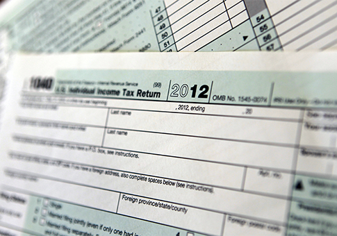 2012 IRS tax form / AP