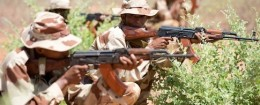 Malian Army soldiers carry out drills in Koulikoro, Mali in May 2013 / AP