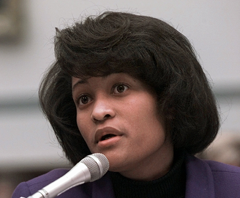 Mills testifies on Capitol Hill on Nov. 6, 1997. (AP)