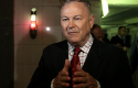 Rep. Dana Rohrabacher (R., Calif.) speaks to the media in Russia Wednesday. (AP)