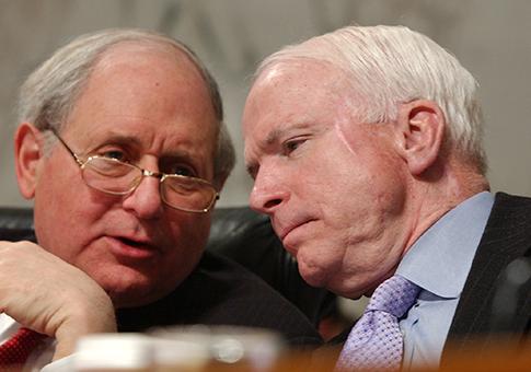 Sens. Levin, McCain / AP