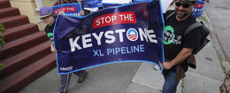 Keystone XL Pipeline protesters / AP