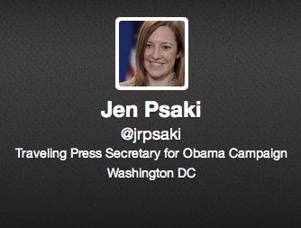 Psaki's Twitter profile