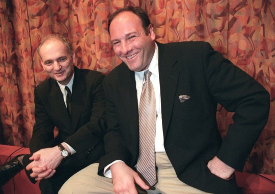 Sopranos creator David Chase (left), James Gandolfini (AP)