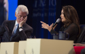 Eva Longoria during a panel at the Clinton Global Initiative / AP