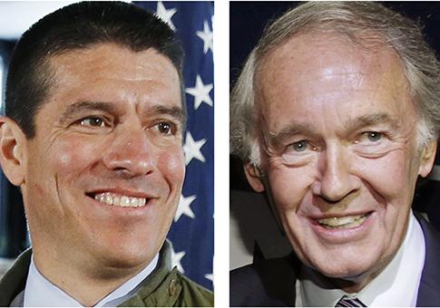 Gabriel Gomez, Rep. Ed Markey / AP