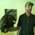 Jeffrey Henry and Freedom, the eagle.