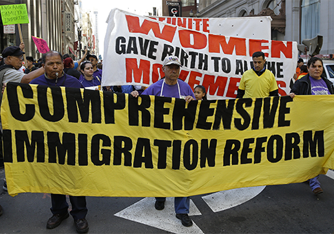 Immigration reform supporters / AP