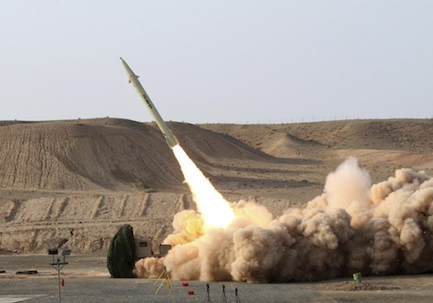 Iran missile launch / AP