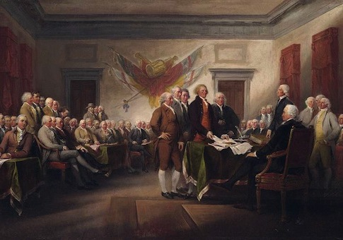 John Trumbull painting, The Declaration of Independence / Wikimedia Commons